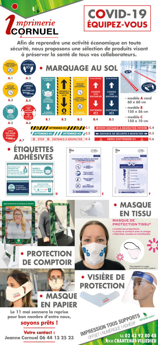 Imprimerie Cornuel Imprimeur Ou Impression En Sarthe Mailing COVID 19 277